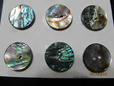 "Pearl Blazer Buttons Lot coat Sewing Trims Genuine Pearl  Gr. Abalone 7/8"" 10  P"