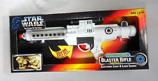 Star Wars Power Of The Force Electronic BLASTER RIFLE w/Light & Sounds Kenner