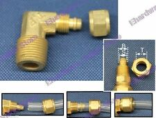 "Heavy Duty Rapid Brass Fitting For Plastic Tube 1/2""Mx1/4""H Male Elbow (DLB2-4)"