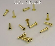 "Brass Eyelet Rivets 1/16"" Wide x 7/32"" Long Package Of 100"