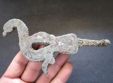Ancient Chinese bronze ware,bird Hooked,handicraft inlaid silver, unearthed