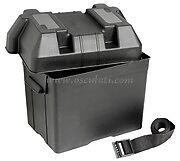 Leisure Battery Box Small Black With Strap Caravan Boat Motorhome RIB  BATB65BK