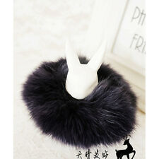 NEW Women Hair Rope Tail Accessories Scrunchie Fake Fur Ponytail Elastic Plush
