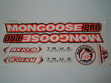 Mongoose PRO RX 10.9 Titanium Stickers White, Orange & Black.
