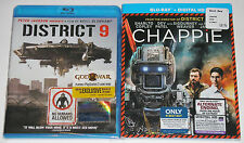 Action Blu-ray Lot - District 9 (New) Chappie (New) films by Neill Blomkamp