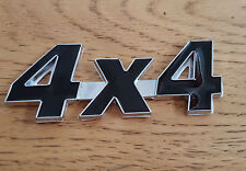 Black/Silver Chrome 3D 4X4 Metal Badge Sticker for Land Range Rover Discovery