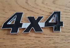 Black/Silver Chrome 3D 4X4 Metal Badge Sticker for Vauxhall Mokka Viva Signum
