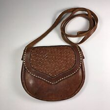 Vintage 70's genuine leather mini cross body bag Excellent condition hippie boho