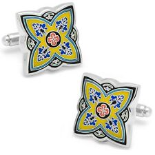 Yellow Spanish Bloom CUFFLINKS-L2 by LOMA-New & Mint in Gift Box-25% off!