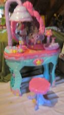 The Little Mermaid Ariel's Vanity Salon 17 pc. Toy Playset Hair stool comb brush