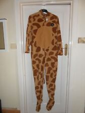 Mens ONESIE sleepsuit Fancy Dress Giraffe with pockets BNWT Size Small FREE P&P