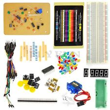 DIY Electronic Parts Starter Learning Kit for Arduino Breadboard LED Resistor