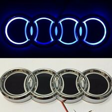 5D LED Car Tail Logo Blue Light for Audi Q3 Q5 A1 A3 TT Auto Badge Light Emblems