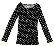 RUE21 Women's T-Shirt Blouse Long Sleeve Black Cross Medium *FREE SHIPPING* A33