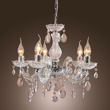 Modern Vintage Ceiling lamp 5 Candle lights lighting Acrylic Chandelier Pendant