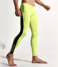 Sexy grand citron vert & noir compression running collants formation activewear gay uk