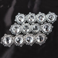12pcs Diamond Napkin Ring Serviette Holder Wedding Banquet Dinner Decor Favor CN