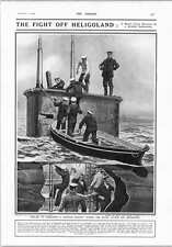 1914 Breaking Up German Colonial Wireless System Heligoland Submarine E4 Rescue