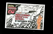 "Postcard- ""Airship R101-60th Anniversary Of Crash-5th Oct 1930. RAFLETCARD G4"