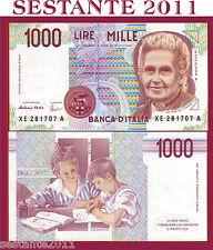 1000 1.000 LIRE MONTESSORI SERIE SOSTITUTIVA XE 1995 P 114c  FDS/UNC REPLACEMENT