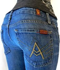 "SEVEN 7 FOR ALL MANKIND WOMENS W27 x L31 ""A"" BOOTCUT DENIM BLUE JEANS"
