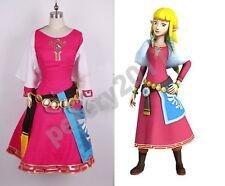 The Legend of Zelda Skyward Sword Zelda Cosplay Costume Dress Princess Zelda