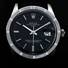 VINTAGE MEN'S ROLEX 1501 OYSTER PERPETUAL DATE AUTO BLACK DIAL WATCH SWISS MADE