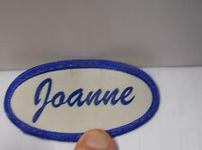 """VINTAGE NAME TAG """" JOANNE"""" CLASSIC """" SEW ON FABRIC PATCH 3"""" W X1-1/2"""" OLD STOCK"""