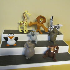 McDONALDS MADAGASCAR ESCAPE AFRICA SET LOT 8 FIGURES¤ALEX¤GLORIA *NO SOUND*