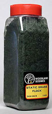 NEW Woodland Scenics Static Grass Flock Dark Green 32 oz FL636