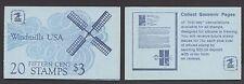 """STATI UNITI - Libretto - 1980 - Copertina """"Mulini a vento"""" - Libretto da $ 3"""