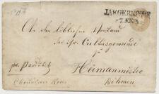 186. 15kr, GA-Umschlag von JAEGERNDORF (Sch) nach HERMANMIESTETZ