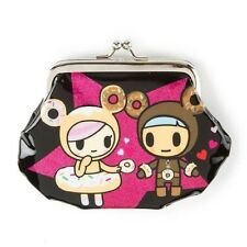 Tokidoki x Neon Star Coin Purse Change Bag Donutella & Ciambello Patent Black