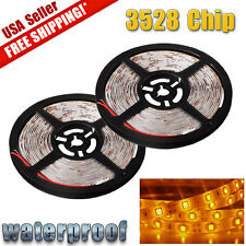 2x 5M Amber Yellow 3528 SMD 300 LED Light Strips Flexible Lamp Waterproof DC12V