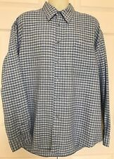 Indigo Palms Long Sleeve Button Shirt Men's blue cream XL NWT