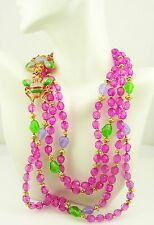 Joan Rivers 2 Strand  Beaded Multi Color Beaded Bee Necklace   34""