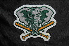 """OAKLAND A'S ELEPHANT W/ CROSSED BATS MLB OFFICIAL PATCH 5"""" X 4"""""""
