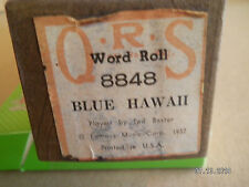 """Q.R.S. PLAYER PIANO ROLL """"BLUE HAWAII"""" .8848...BY TED BAXTER"""
