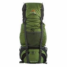 MPG Alpine 3600 60L Internal Frame Hiking Backpack Scout Backpack Army Green