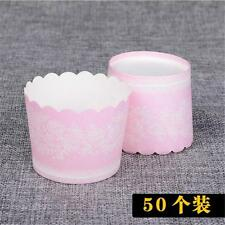 50pcs Cake Baking Paper Cup Cupcake Liners Muffin Case Home Party 0o