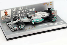 M. Schumacher Mercedes AMG W03 #7 300th GP Belgien Formel 1 2012 1:43 Minichamps