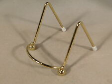 (1) SMALL Brass Easel Display Stand for Plates, Fossils and More!