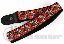 D'Addario PLANET WAVES Guitar Strap Jimi Hendrix WOODSTOCK Red Woven Elvis 5OEO3