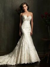 Strapless All LAce Wedding Gown by Allure Bridal style 9051 wedding gown