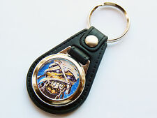 IRON MAIDEN Classic Rock Band Eddie The Mummy Premium Leather & Chrome Keyring