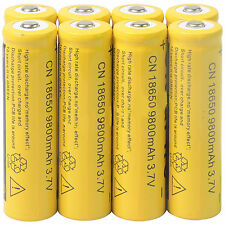Universal 8pcs 18650 3.7V 9800mAh Li-ion Rechargeable Battery Cell For Torch USA