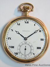 Antique Hamilton Strong Running 17J Mens 1915 Pocket Watch