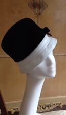 AUTHENTIC MISS DIOR VINTAGE 60'S black velvet dress cappello con fiocco sbalorditivo!