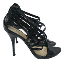 DUNE Sandals Size 5 Black Strappy Sandals Designer Stiletto High Heel Shoes