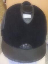 Euro-Lite Reithelm,schwarz,Gr. 53, vorder und. seilt. Belüftung,Coolmax,UVP 141€